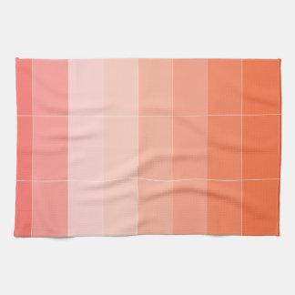 Nur Farborange Ombre Handtuch