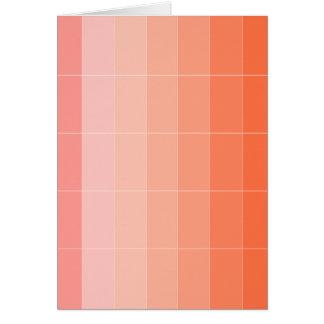 Nur Farborange Ombre Grußkarte