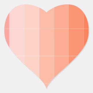 Nur Farborange Ombre Herz-Aufkleber