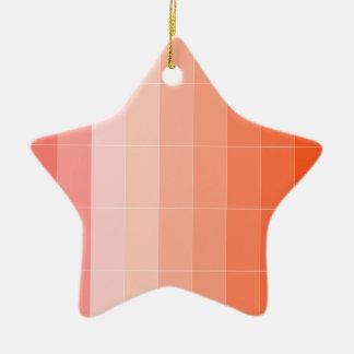 Nur Farborange Ombre Keramik Stern-Ornament