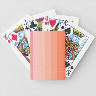 Nur Farborange Ombre Poker Karten