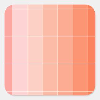 Nur Farborange Ombre Quadratischer Aufkleber