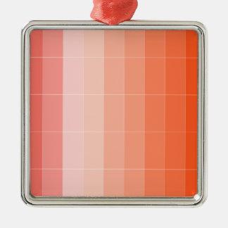 Nur Farborange Ombre Quadratisches Silberfarbenes Ornament