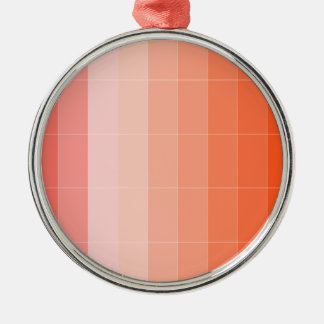 Nur Farborange Ombre Rundes Silberfarbenes Ornament