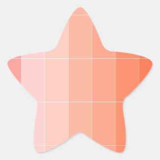 Nur Farborange Ombre Stern Aufkleber