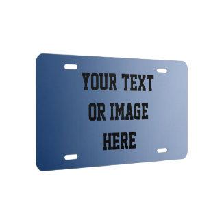 NUR FARBsteigungen - Blau + Ihr Text US Nummernschild
