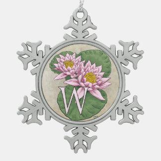 nur für Wasserlilie Schneeflocken Zinn-Ornament