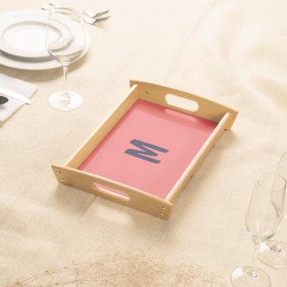 Nur heller korallenroter rosa stilvoller tablett