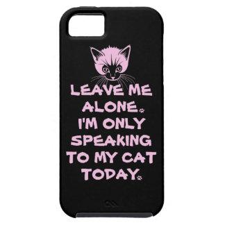 Nur, heute sprechend mit meiner Katze Tough iPhone 5 Hülle
