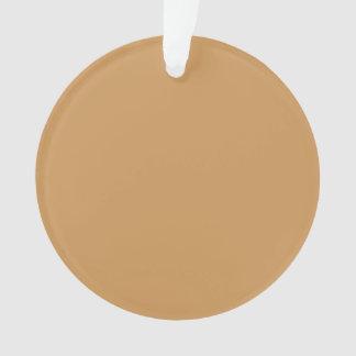 Nur kakifarbige tan klassische Farbverzierungen Ornament