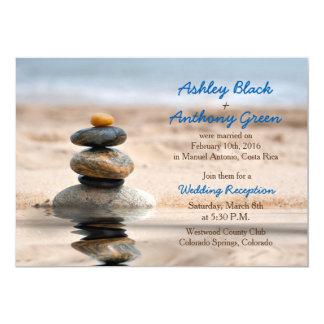 Nur Ozean-Strand-Hochzeit in Urlaubsorts-Empfang 12,7 X 17,8 Cm Einladungskarte