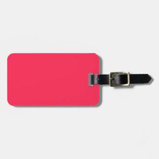 Nur pinkfarbener rosa hübscher kofferanhänger