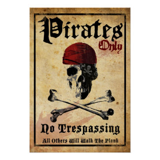Nur Piraten Posterdruck