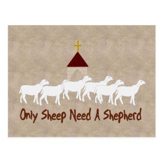 Nur Schafe benötigen Schäfer Postkarte