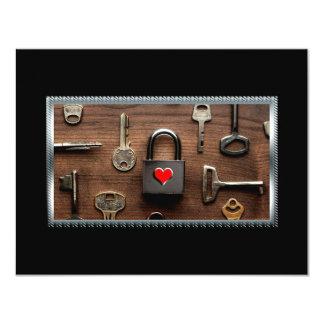 Nur Sie halten das Schlüssel…, das meine Liebe 10,8 X 14 Cm Einladungskarte