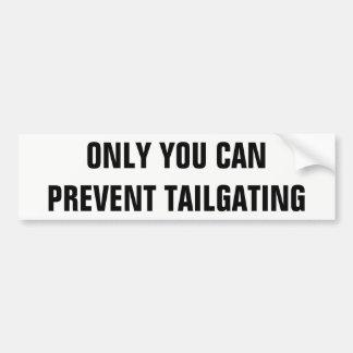 Nur Sie können das condenced Tailgatingfolio Autoaufkleber