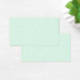 Nur tadelloser grüner hübscher Pastellnormallack Visitenkarte