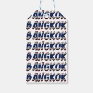 Nur Typografie-eleganter Text Bangkoks Thailand Geschenkanhänger