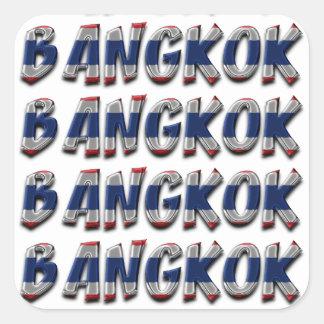 Nur Typografie-eleganter Text Bangkoks Thailand Quadratischer Aufkleber