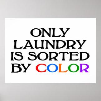 Nur Wäscherei wird durch FARBplakat sortiert Poster