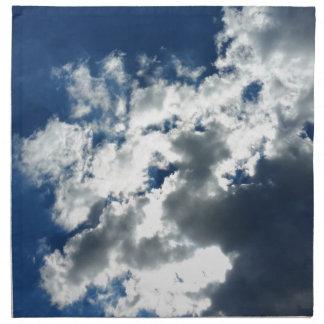 Nur Wolken Stoffserviette