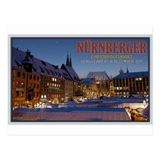 Nürnberg Christkindlesmarkt nachts Postkarte
