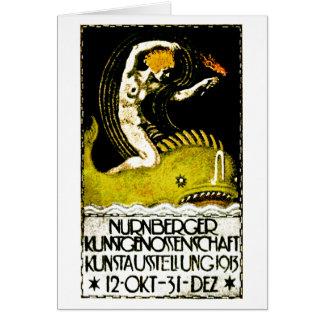 Nurnberg Deutschland Kunst-Ausstellungs-Plakat Karte