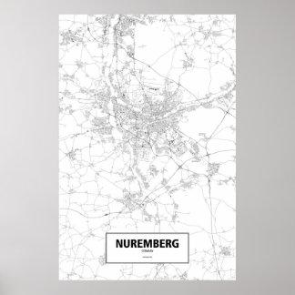 Nürnberg, Deutschland (Schwarzes auf Weiß) Poster