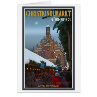 Nürnberg Frauenkirche u. Christkindlmarkt Karte