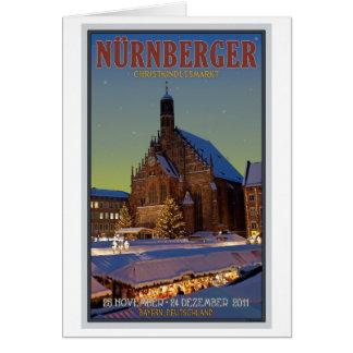 Nürnberg Frauenkirche u. das Christkindlmarkt Karte