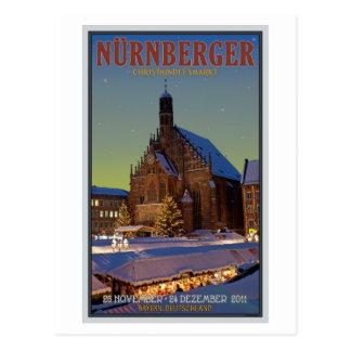 Nürnberg Frauenkirche u. das Christkindlmarkt Postkarte