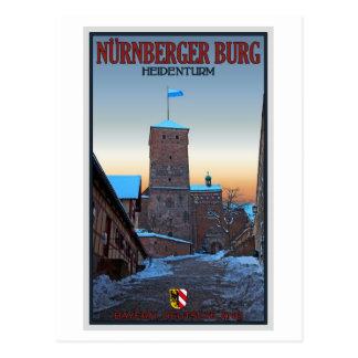 Nürnberg - Heidenturm Winter Postkarte