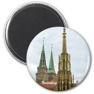 Nürnberg-Magnet Runder Magnet 5,7 Cm