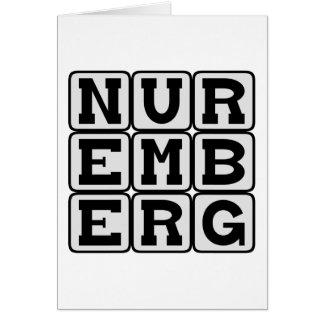 Nürnberg, Stadt in Deutschland Karte