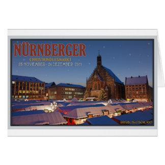 Nürnberg Weihnachtsmarkt-Nacht Karte