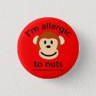 Nuss-Allergie-Alarm Runder Button 2,5 Cm