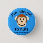 Nuss-Allergie-Alarm Runder Button 3,2 Cm