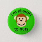 Nuss-Allergie-Grün Runder Button 3,2 Cm