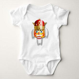 Nussartiger Nussknacker-König Cartoon Baby Strampler