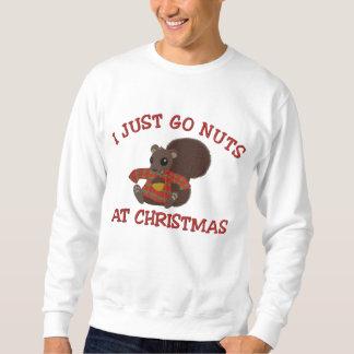 Nussartiges Weihnachtseichhörnchen Besticktes Sweatshirt