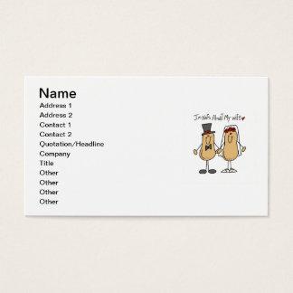 Nüsse über meine Ehefrau-T - Shirts und Geschenke Visitenkarte
