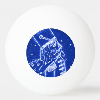 NUSSKNACKER-SPIELZEUG-SOLDAT im hellen Blau Tischtennis Ball