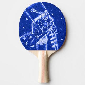NUSSKNACKER-SPIELZEUG-SOLDAT im hellen Blau Tischtennis Schläger