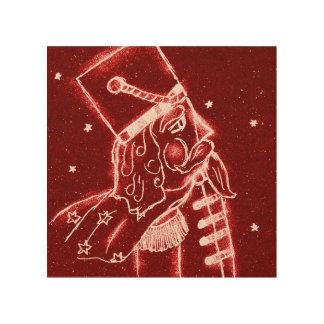 Nussknacker-Spielzeug-Soldat im hellen Rot Holzwanddeko
