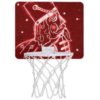 Nussknacker-Spielzeug-Soldat im hellen Rot Mini Basketball Ring
