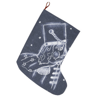 Nussknacker-Spielzeug-Soldat im mittleren Blau Großer Weihnachtsstrumpf