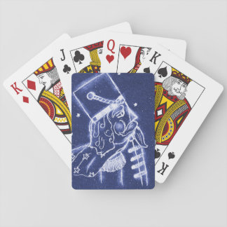 NUSSKNACKER-SPIELZEUG-SOLDAT in hellblauem Spielkarten