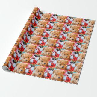 Nussknacker spricht mit Teddybären Geschenkpapier