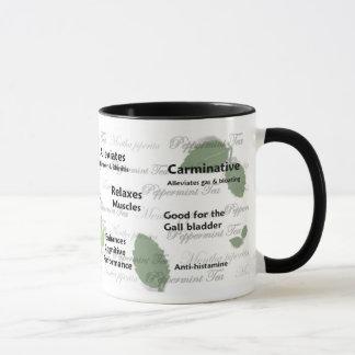 Nutzen der Pfefferminz-Tee-Tasse (Blattentwurf) Tasse