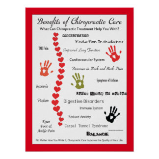 Nutzen des Chiropraktik-Sorgfalt-Plakats fertigt Poster